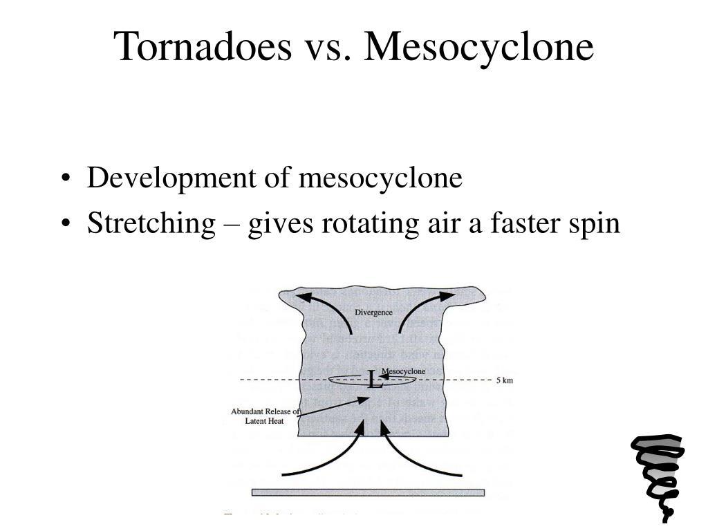 Tornadoes vs. Mesocyclone