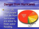 danger from hurricanes