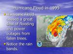 hurricane floyd in 1999