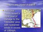 hurricane hazel in 1954