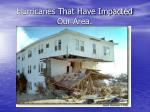 hurricanes that have impacted our area