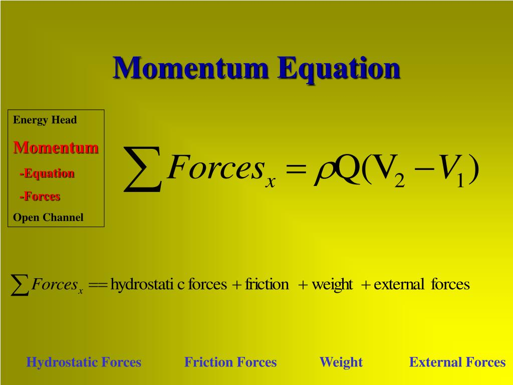 Momentum Equation