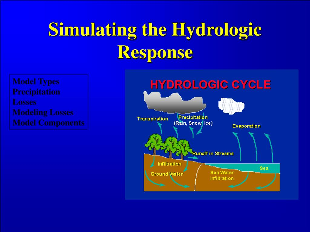 Simulating the Hydrologic Response