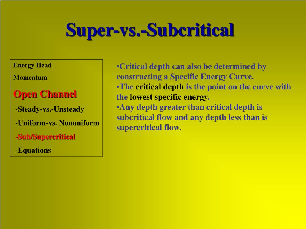Super-vs.-Subcritical