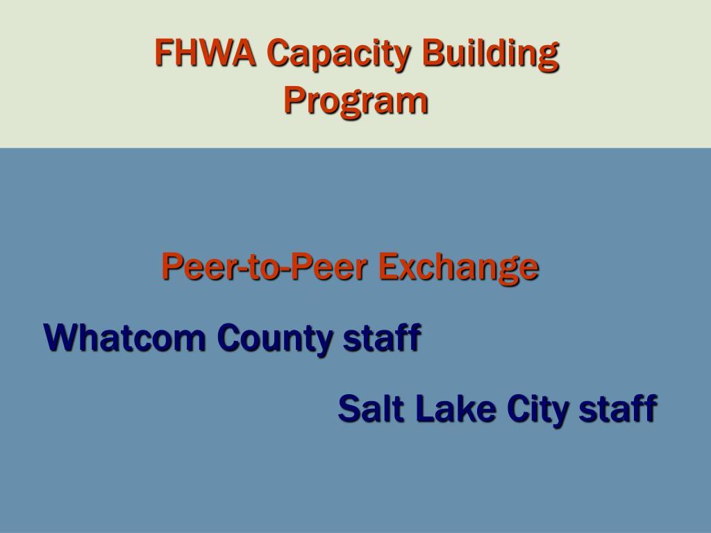FHWA Capacity Building
