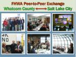fhwa peer to peer exchange whatcom county salt lake city