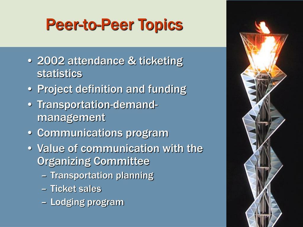 Peer-to-Peer Topics