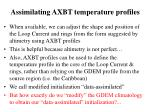 assimilating axbt temperature profiles