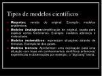 tipos de modelos cient ficos