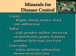 minerals for disease control