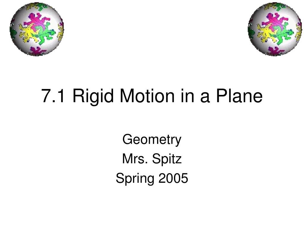 7 1 rigid motion in a plane