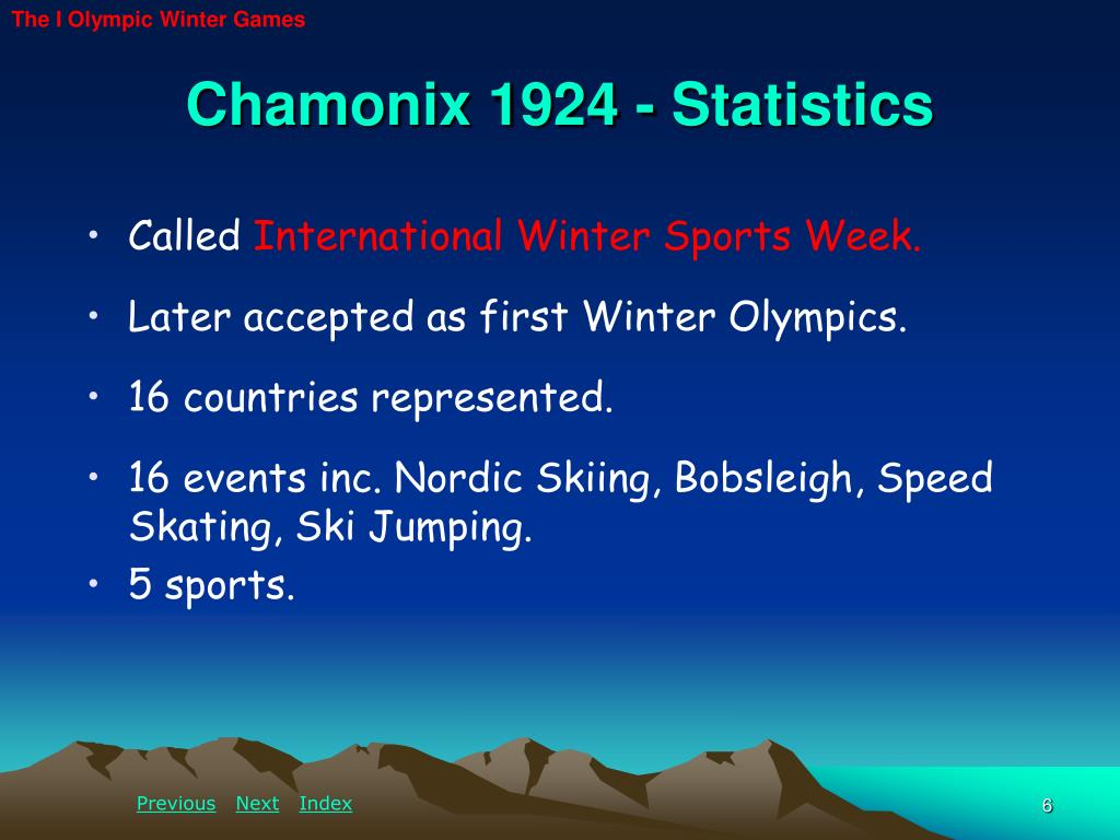 The I Olympic Winter Games