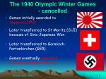 the 1940 olympic winter games cancelled