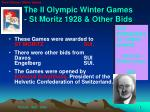 the ii olympic winter games st moritz 1928 other bids