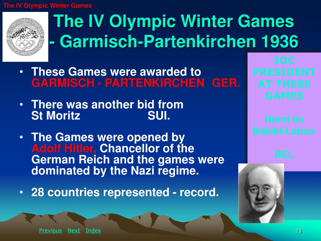 The IV Olympic Winter Games