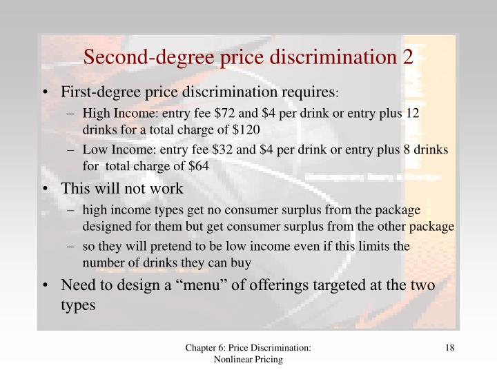 price discrimination case study Price discrimination is easier when there are separate and distinct markets for a firm's products and when price elasticity of demand varies from one group of consumers to another summary of the main conditions.