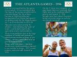 the atlanta games 1996