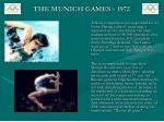the munich games 197210
