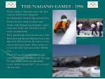 the nagano games 1998