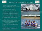 the sydney games 2000