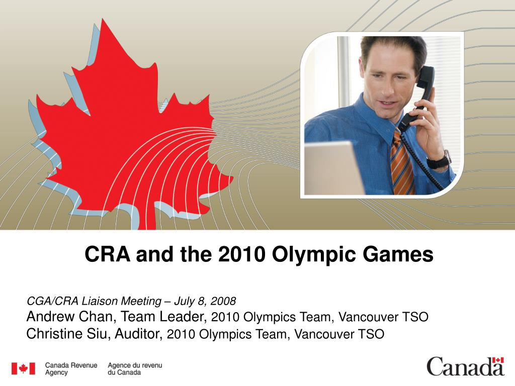 cra and the 2010 olympic games l.