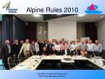 alpine rules 2010