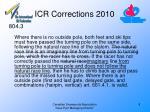 icr corrections 20108