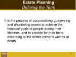 estate planning defining the term