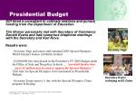 presidential budget