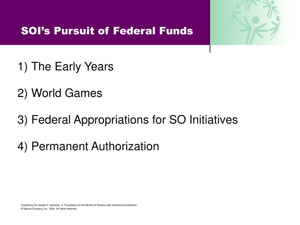 soi s pursuit of federal funds l.