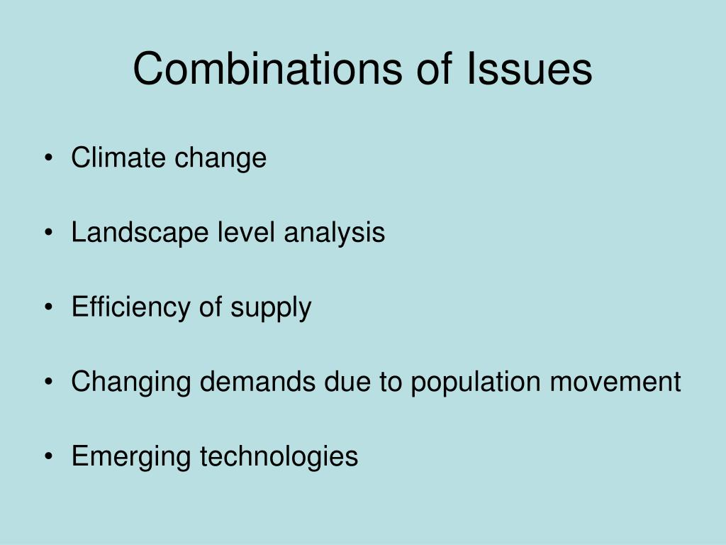 Combinations of Issues