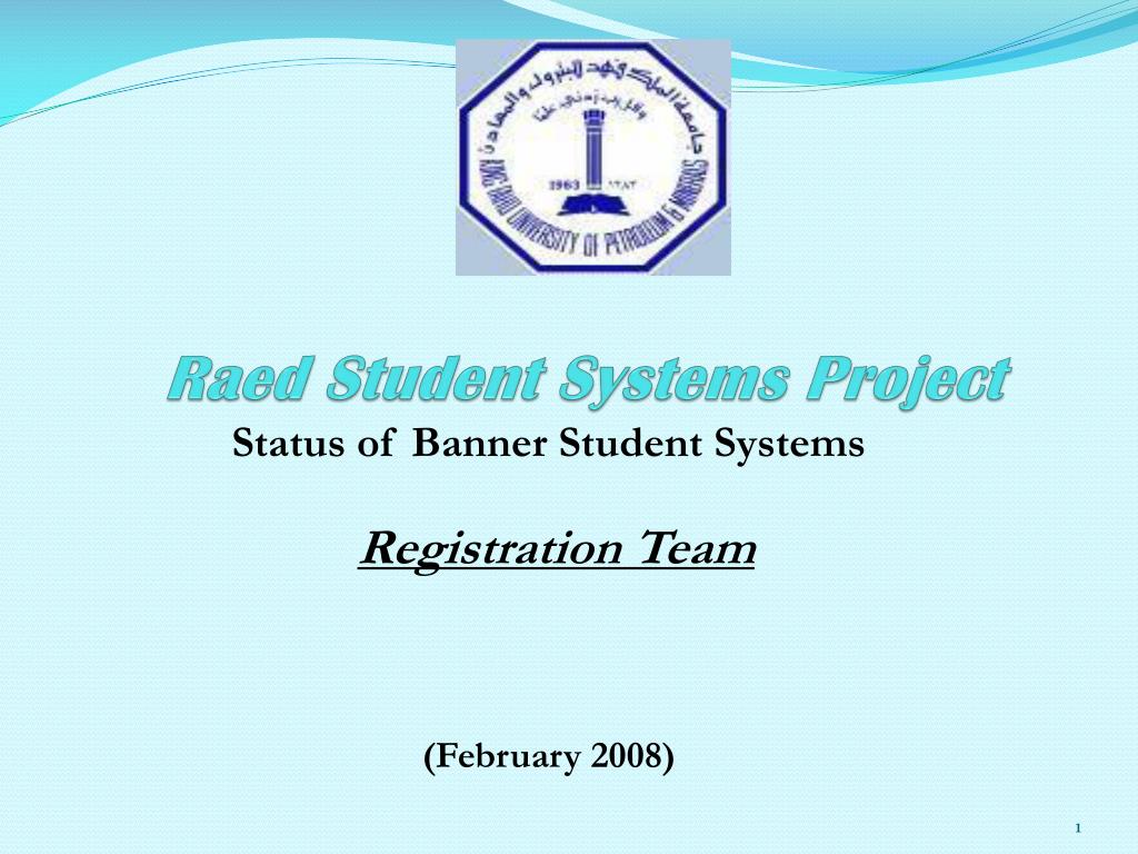 raed student systems project l.