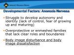 developmental factors anorexia nervosa