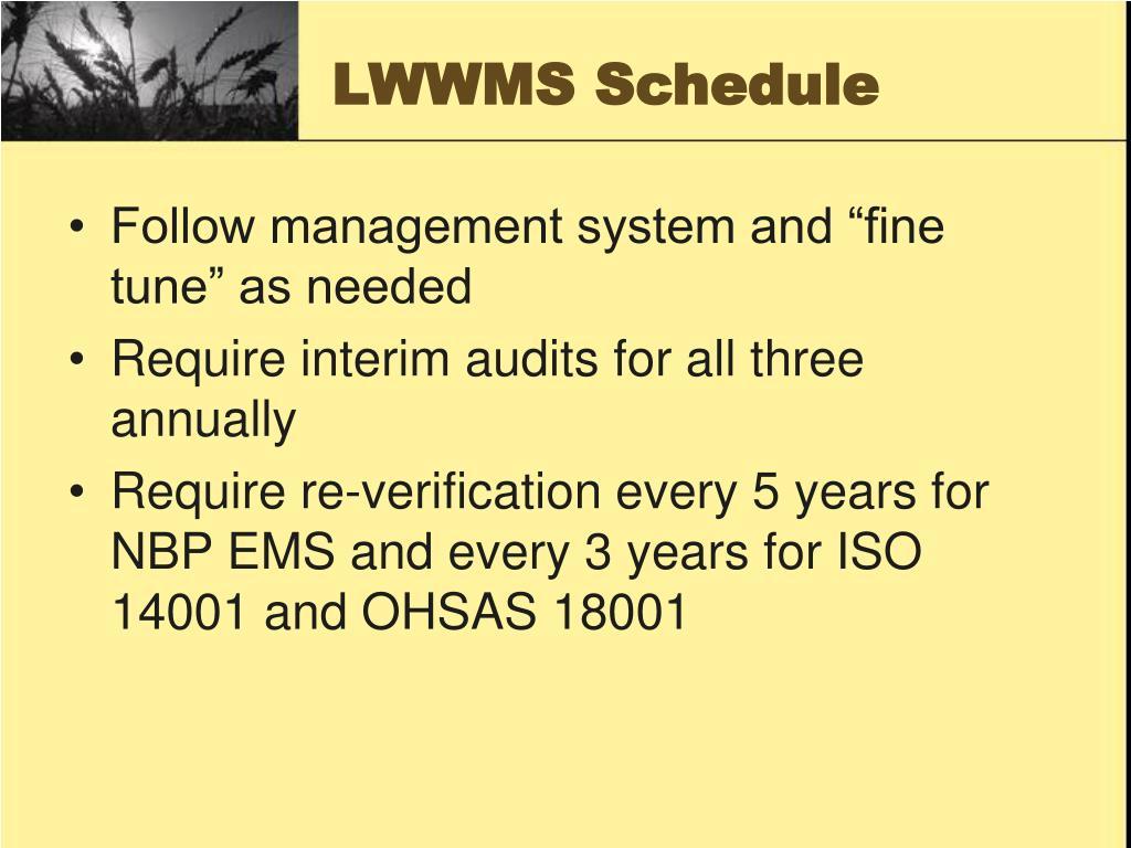 LWWMS Schedule