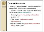 covered accounts