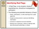 identifying red flags
