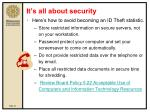 it s all about security