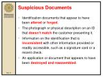 suspicious documents