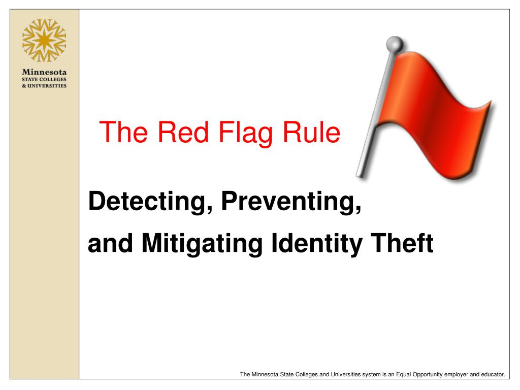 the red flag rule l.