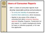 users of consumer reports