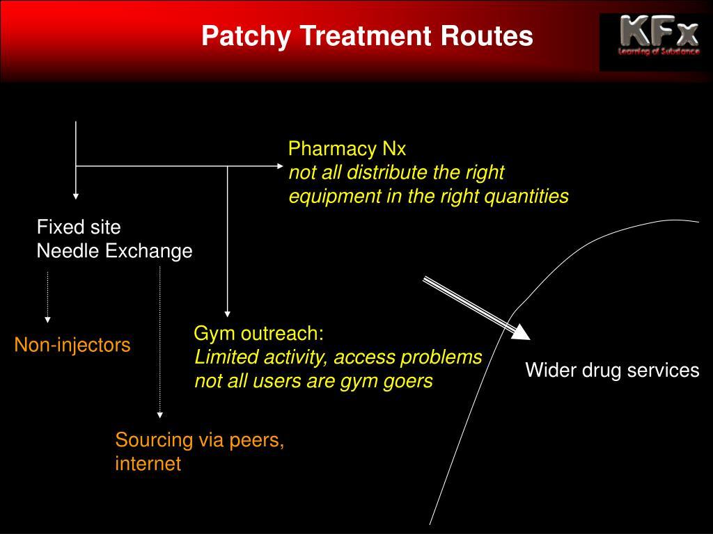 Patchy Treatment Routes