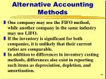 alternative accounting methods