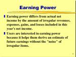 earning power6