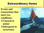 extraordinary items