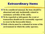 extraordinary items12