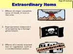 extraordinary items13
