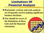limitations of financial analysis