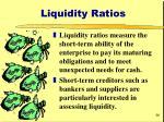 liquidity ratios