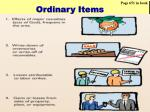 ordinary items