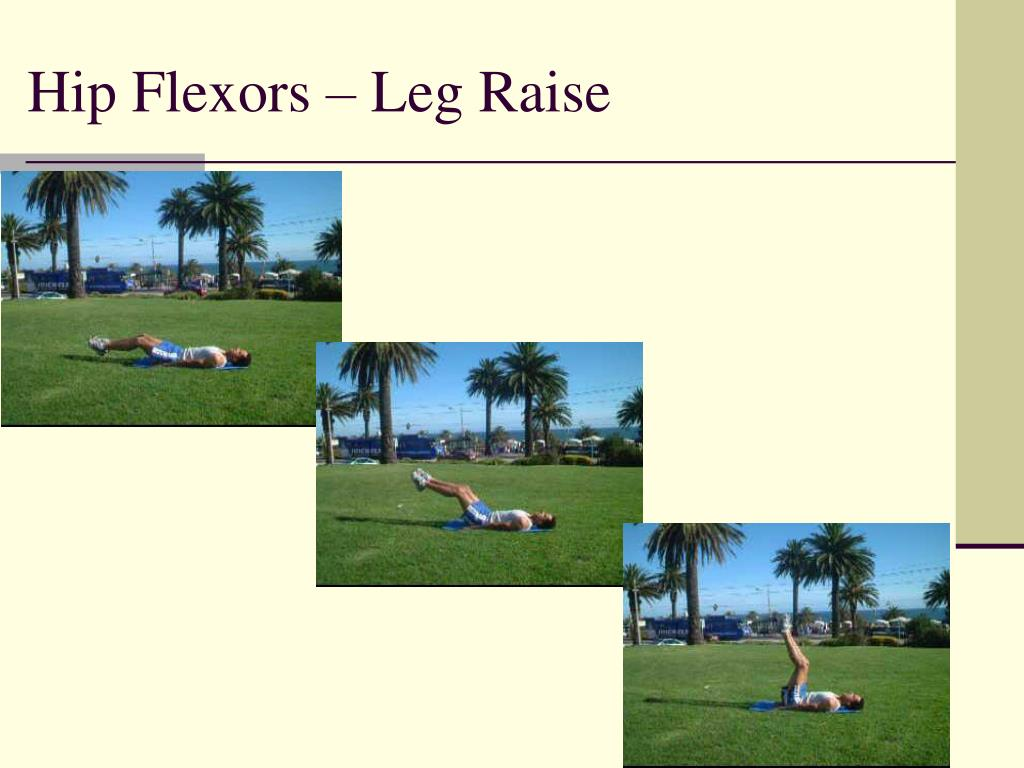 Hip Flexors – Leg Raise